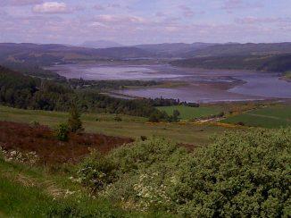 View down into Ardgay estuary