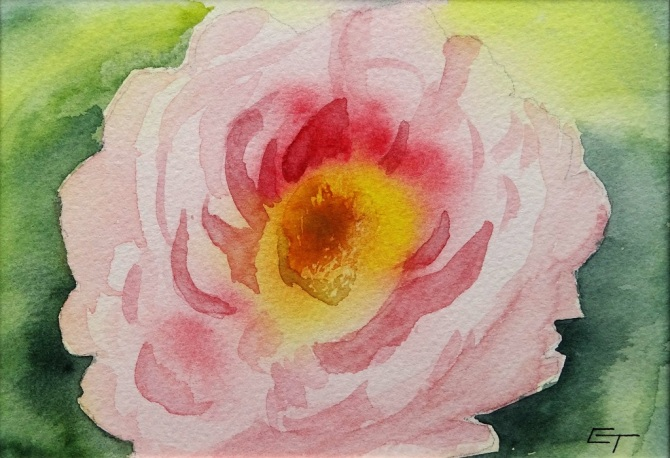 Created while on a painting course by Claire Warner.