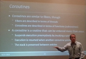 David Sackstein presenting (with apologies for image quality)