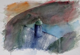 First go at trying to capture the Elan Valley dams.