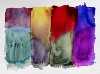 Had  great fun playing around with some colour wash ideas. Yay!