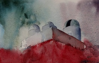 A painting starting out as a playing wash. I love watercolour!